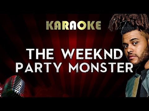 The Weenknd - Party Monster | Official Karaoke Instrumental Lyrics Cover Sing Along
