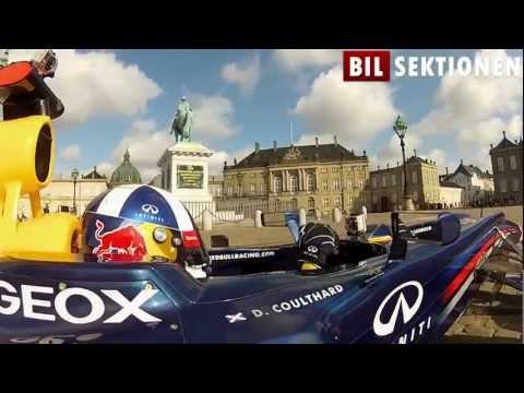 David Coulthard drives Red Bull F1 racer in Copenhagen