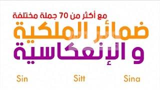 الفيديو الشامل للضمائر الملكية والإنعكاسية Sin - Sitt - Sina مع أكثر من 70 جملة للتفريق بينهم HD
