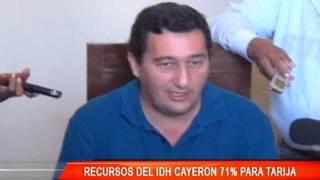 RECURSOS DE IDH CAYERON 71 % PARA TARIJA