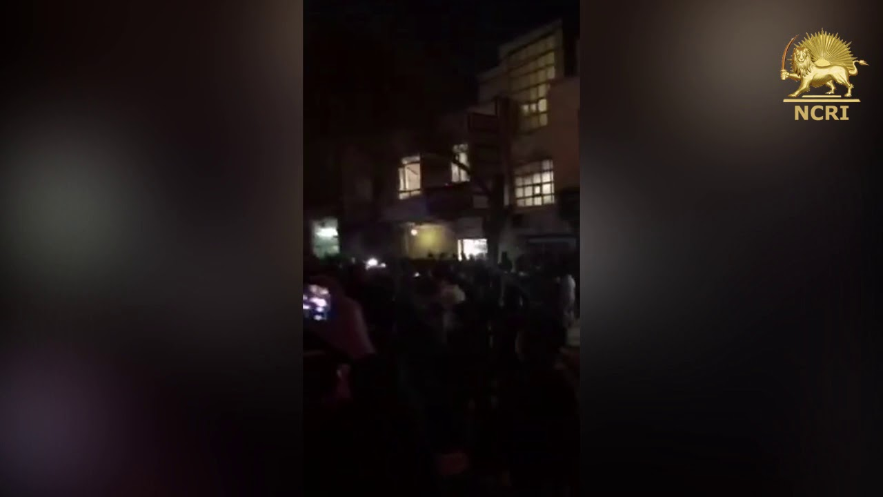 ZIBASHAHR - Tehran Province, Iran, Aug 3,  Protesters chanting: death to The dictator