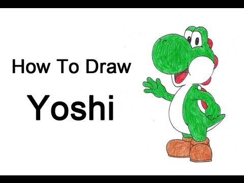 How To Draw Mario Characters Step By Step For Kids How to Draw Yoshi (Nin...