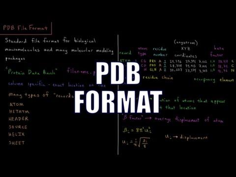 Computational Chemistry 1.2 - PDB File Format