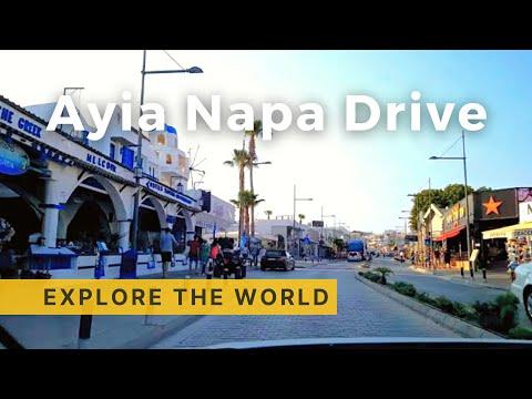 Driving In AYIA NAPA 4K, Cyprus
