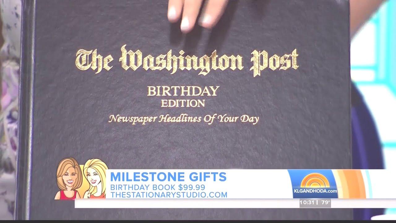 Milestone Celebration Gift Ideas with Jill Martin on NBC's Today Show