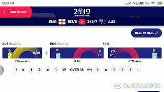 🔴[ LIVE ] ENG vs AUS Live score and Commentry - Australia Vs England ICC World Cup 2019 | cwc19