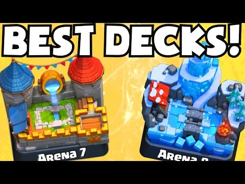 Clash Royale BEST ARENA 7 ARENA 8 DECKS UNDEFEATED | BEST ATTACK STRATEGY GAMEPLAY TIPS F2P PLAYERS
