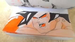 Goku vs Saitama flipbook animation (DRAGONBALL Z VS ONE PUNCH MAN) PART  1