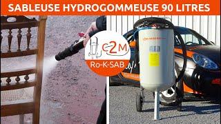 Ro-HK-Pro-90 Sableuse Hydrogommeuse Automatisée fabrication française par c2m-Négoce