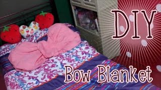 Fold your own Bow Blanket!