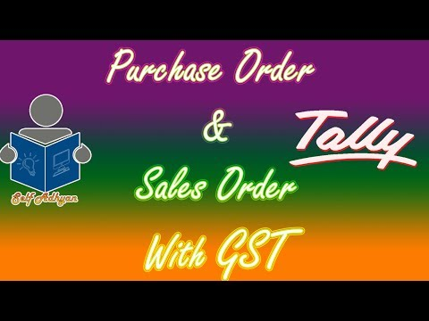Purchase Order with GST in Hindi | (PO) GST in Purchase Order and Sales Order by Manoj Sir