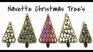 Large Navette Christmas Tree Pendant / Ornament