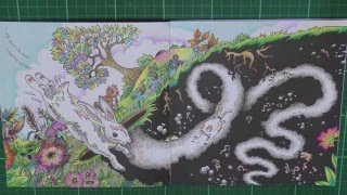 Colouring Book Review: Escape To Wonderland with tips and coloured pages.