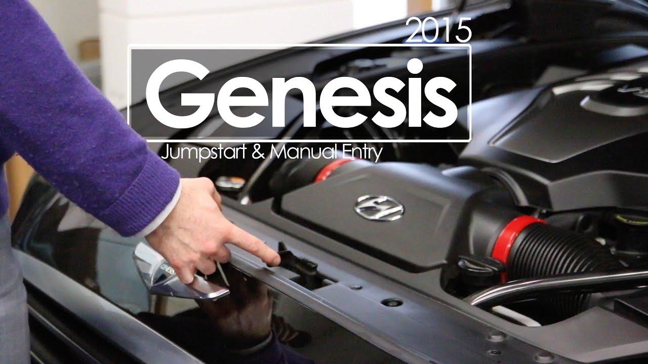 2015 hyundai genesis jumpstart battery manual entry tutorial rh youtube com Roll Start Manual Car how to jumpstart a manual car with dead battery