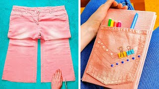 28 UNUSUAL WAYS TO REUSE OLD JEANS  5-Minute Recipes to Upgrade Your Clothes!