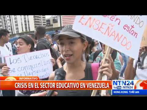 Paro nacional de profesores en Venezuela