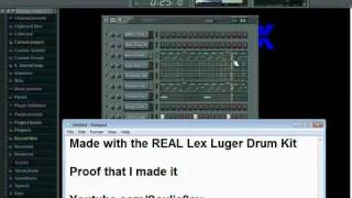 Beat made with Lex Luger Drum Kit (FLP)