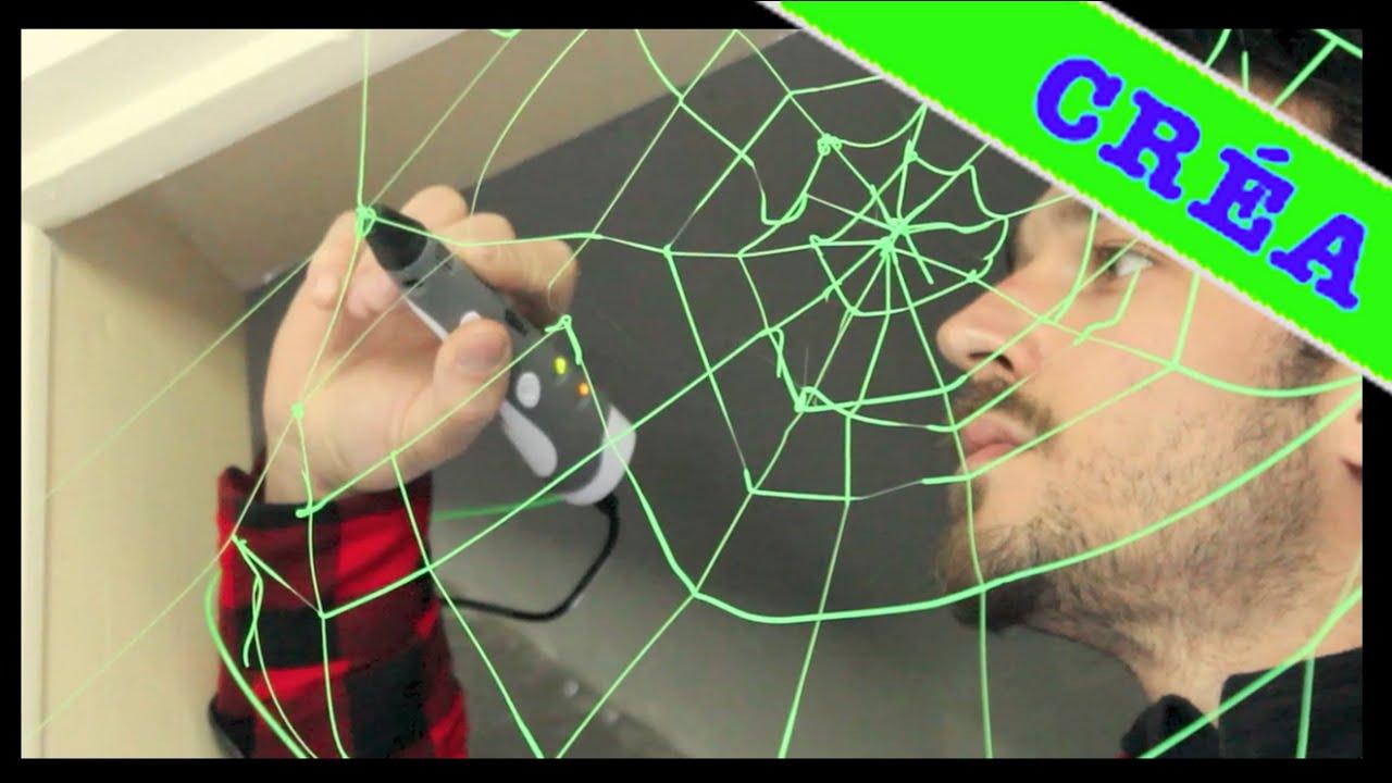 toile d 39 araign e cobweb 3d painting youtube. Black Bedroom Furniture Sets. Home Design Ideas