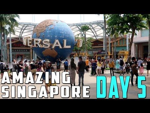 Family Travel Vlog: Amazing Singapore Day 5 Universal Studios Sentosa Island Family Vacation 2018