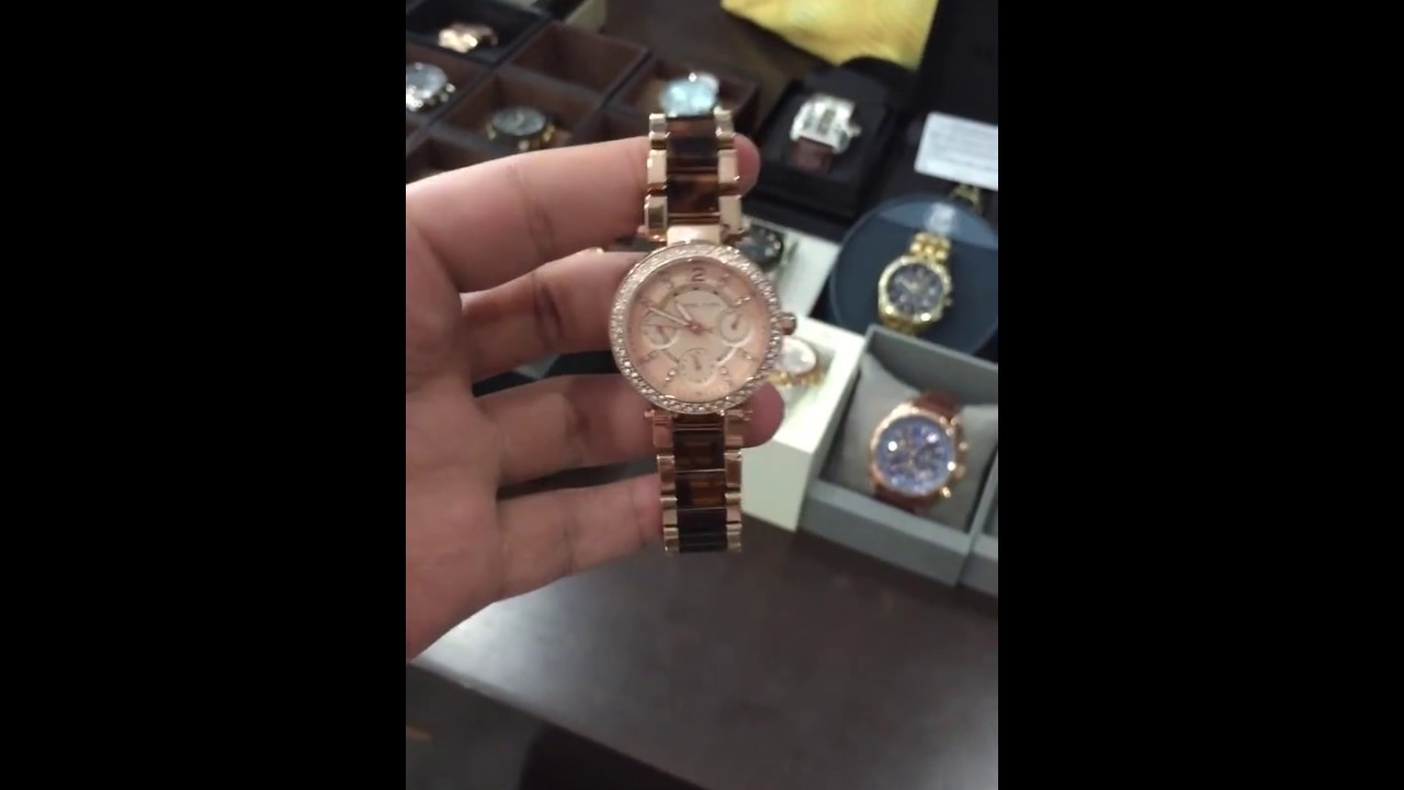 def7c37c6d4c MICHAEL KORS Multi-Function Rose Dial Rose Gold-tone and Tortoise-shell Ladies  Watch MK5841