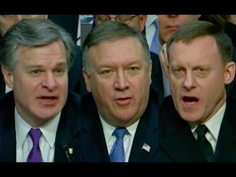 FBI, CIA, and NSA Directors Testify to Senate Intelligence Committee 2/13/18