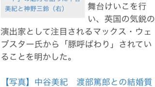 中谷美紀 「豚呼ばわり」明かす 女優の中谷美紀(39)が12日、東京...