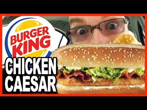 Burger King NEW Chicken Caesar Sandwich Combo and Drive Through Test (NO FAIL, lol)