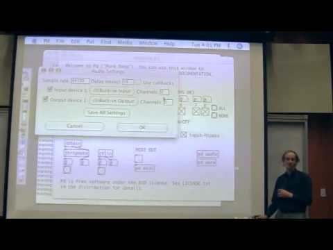 Miller Puckette's Lecture 1 of UCSD class Music 171: Computer Music I