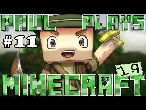 Paul Plays Minecraft 1.9 - E11 - Skeleton Horse Riders & Longhouse! (Vanilla Minecraft Survival)