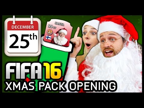XMAS ADVENT CALENDAR PACK OPENING #25 - FIFA 16 ULTIMATE TEAM