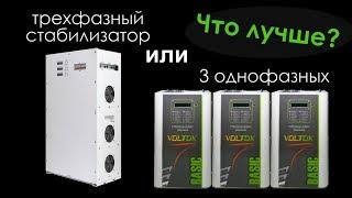 видео Трехфазные стабилизаторы напряжения (380 В)