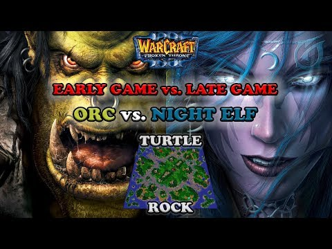 Grubby | Warcraft 3 The Frozen Throne | Orc v NE -Early Game vs. Late Game - Turtle Rock