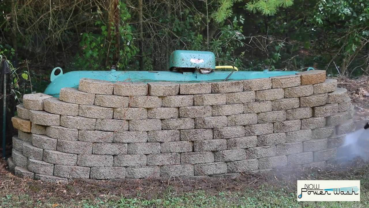 How To Powerwash Brick Retaining Walls 100 Clean In Seconds Youtube
