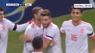 Wales vs Spain 1-4 GOALS and Highlights 11 10 2018 أهداف بلاد الغال اسبانيا