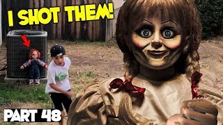 Evil Doll Annabelle mailed to us FREAKS US OUT and haunts us like a SCARY CLOWN - Part 48