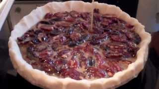 Maple Bourbon Pecan Pie [recipe]