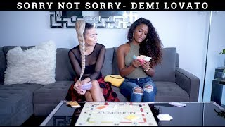 SORRY NOT SORRY/SONGS IN REAL LIFE- OFFICIAL JANINA & LIANE V
