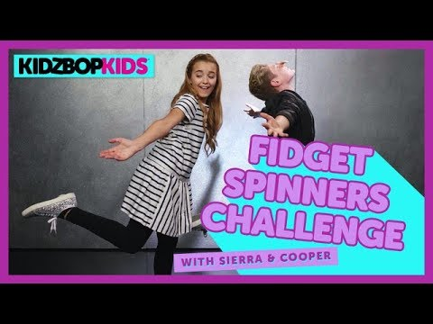 The Fidget Spinners Challenge with Sierra & Cooper from The KIDZ BOP Kids