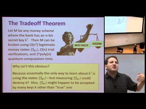 Private-key quantum money - Scott Aaronson
