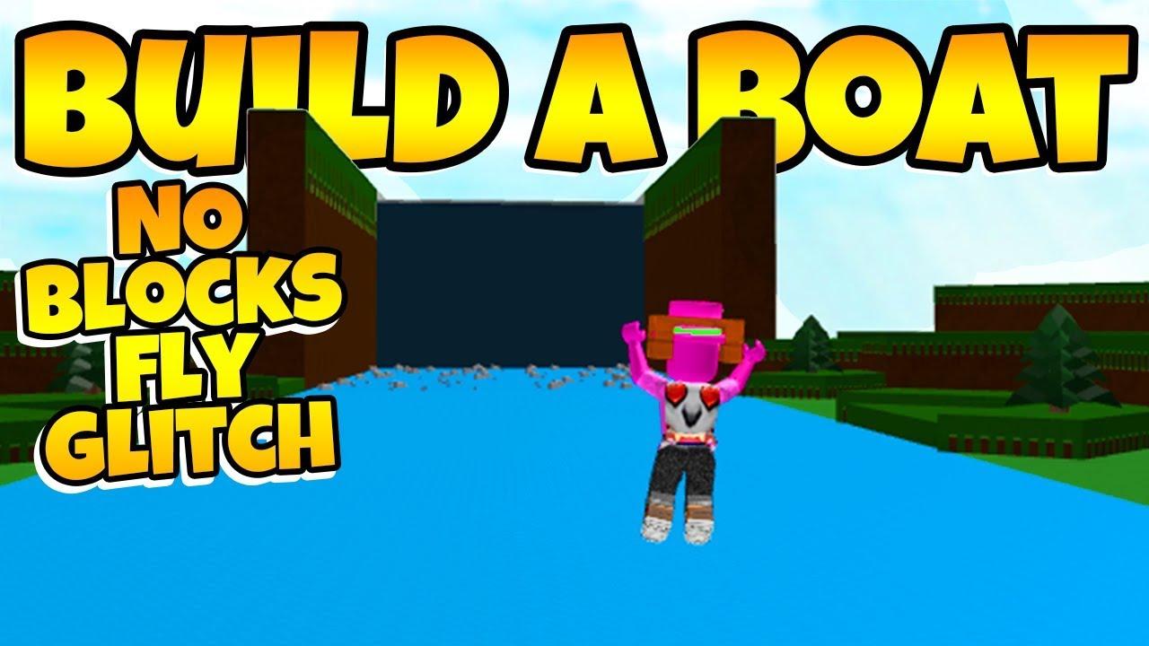 Build A Boat No Blocks Fly Glitch Youtube