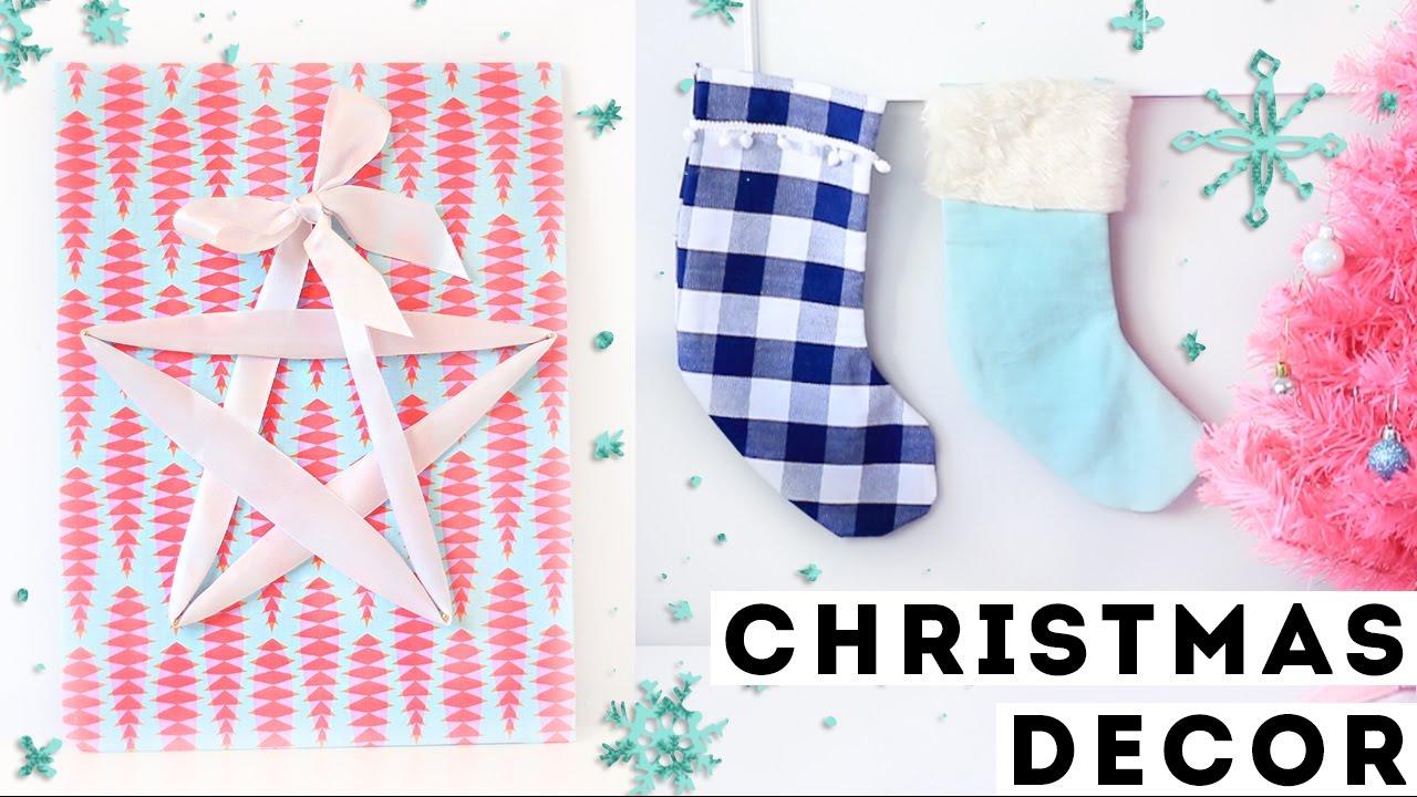Diy budget christmas decorations and festive room decor for Diy room decor 2016