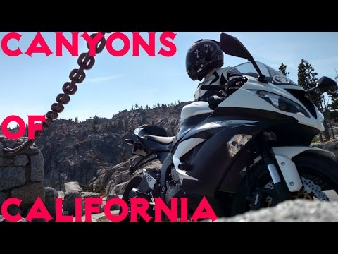 Riding Beautiful Canyons of Southern California Fun on Kawasaki ZX6R Motorcycle