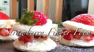 식빵요리,미니 딸기 케이크 만들기,간단한 핑거푸드 Fi…