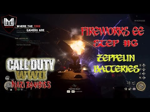 CALL OF DUTY WW2 THE THIRD REICH FIREWORKS EASTER EGG TUTORIAL PLAYLIST! STEP 6: ZEPPELIN BATTERIES