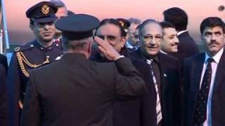 President Zardari arrival in Ankara, 11 April 2011