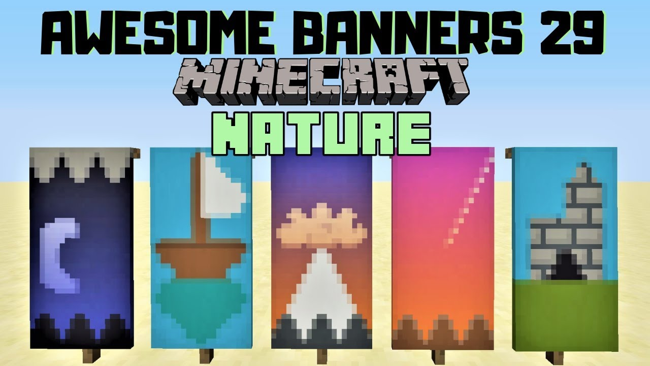 5 Awesome Minecraft Banner Designs With Tutorial 29 Youtube