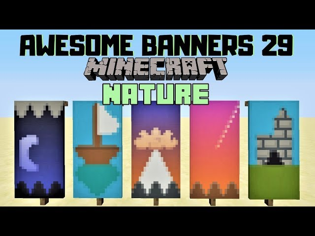 ? 5 AWESOME MINECRAFT BANNER DESIGNS WITH TUTORIAL! #29