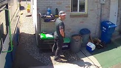 Worker caught pissing in homeowners yard by 2 different cameras.