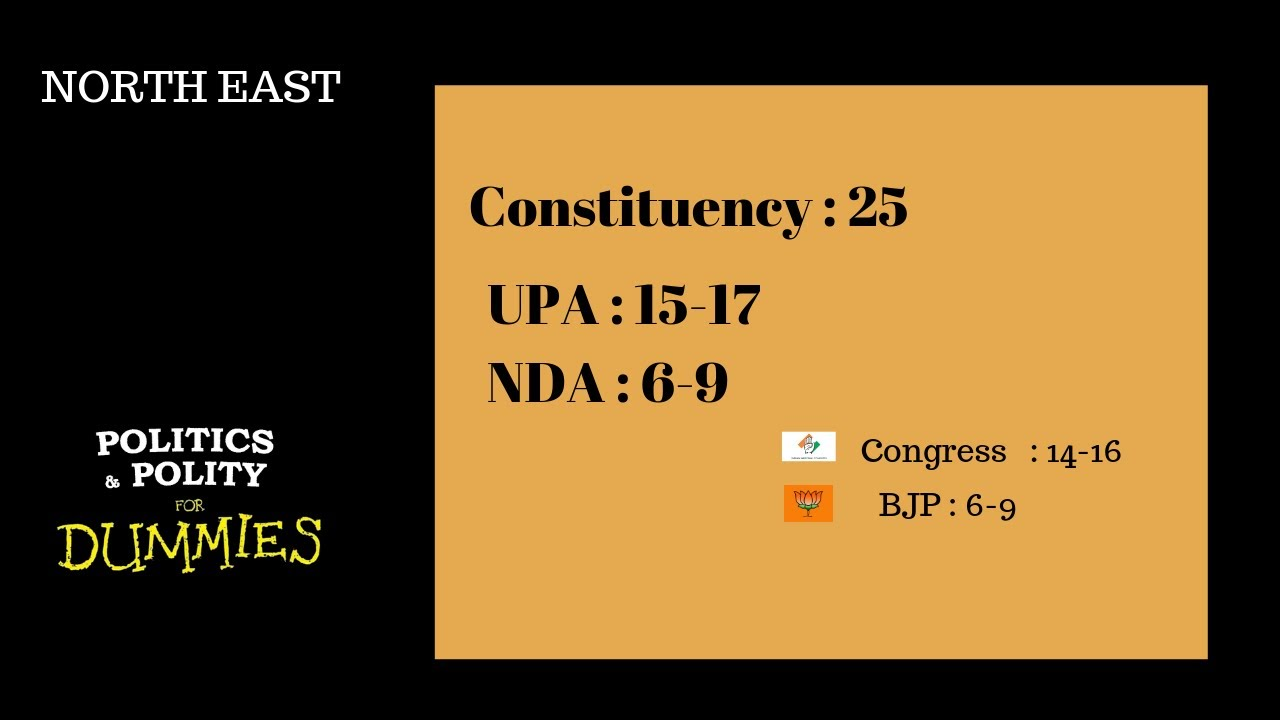 LOK SABHA ELECTION - Extrapolative poll - PART 7 (NORTH EAST and Union territory )