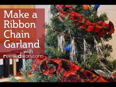 Diy Christmas Garland Make A Ribbon Chain Garland Youtube